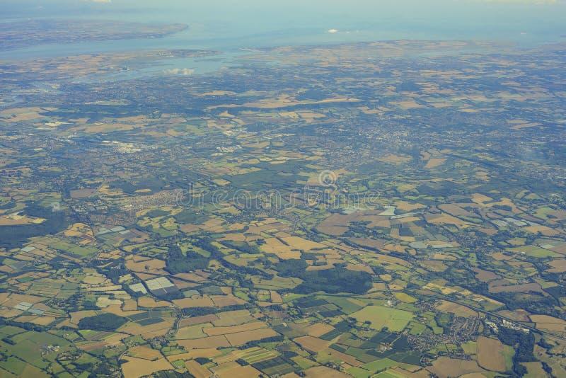Vista aérea de Reino Unido imagem de stock