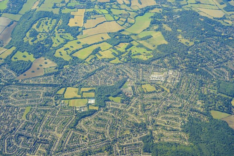 Vista aérea de Reino Unido fotografía de archivo libre de regalías