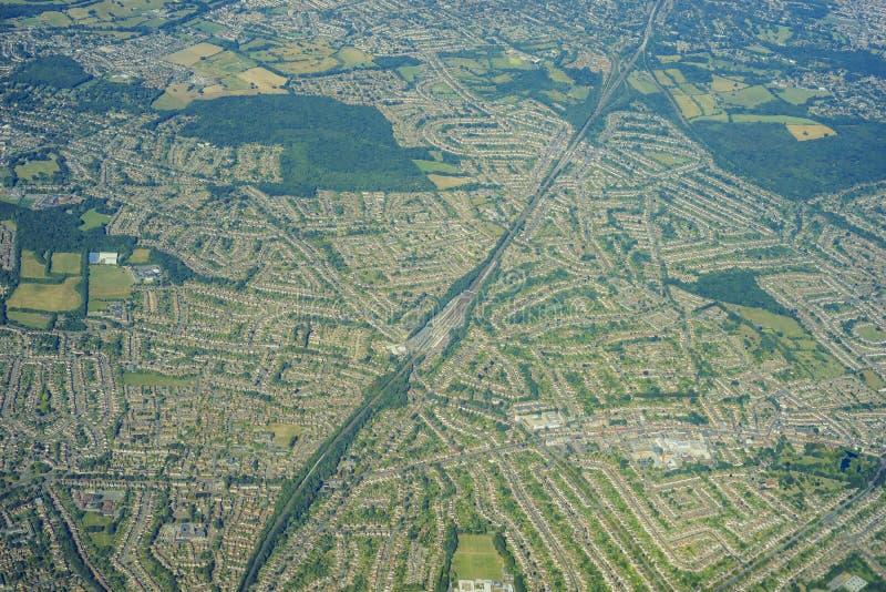 Vista aérea de Reino Unido imagen de archivo