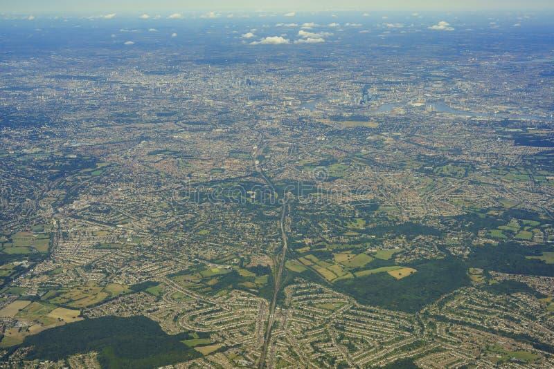 Vista aérea de Reino Unido fotos de archivo