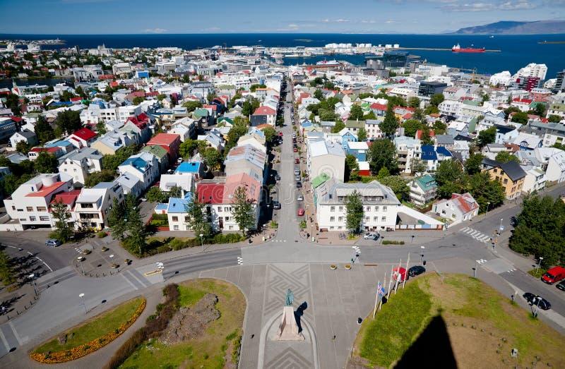 Vista aérea de Reykjavik, Islândia imagens de stock royalty free