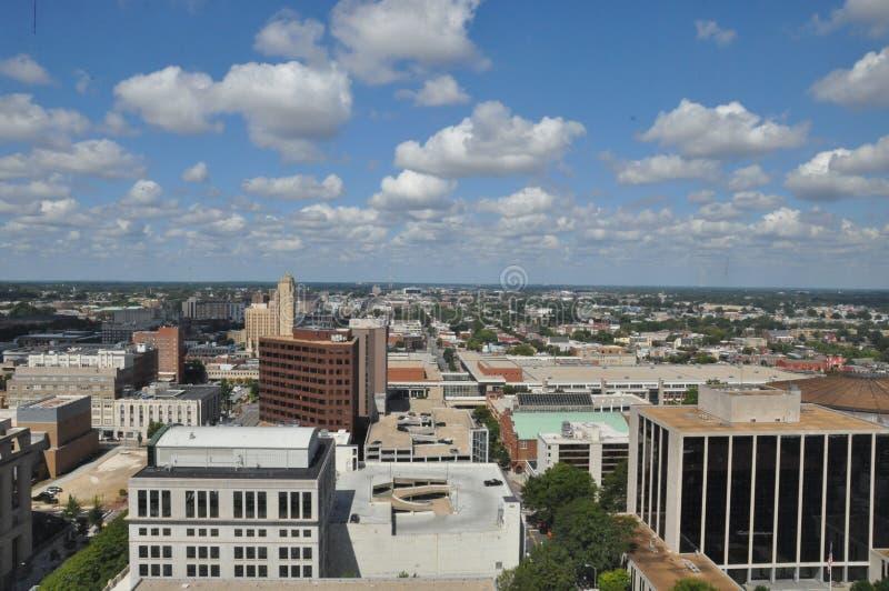 Vista aérea de Richmond, Virginia foto de archivo