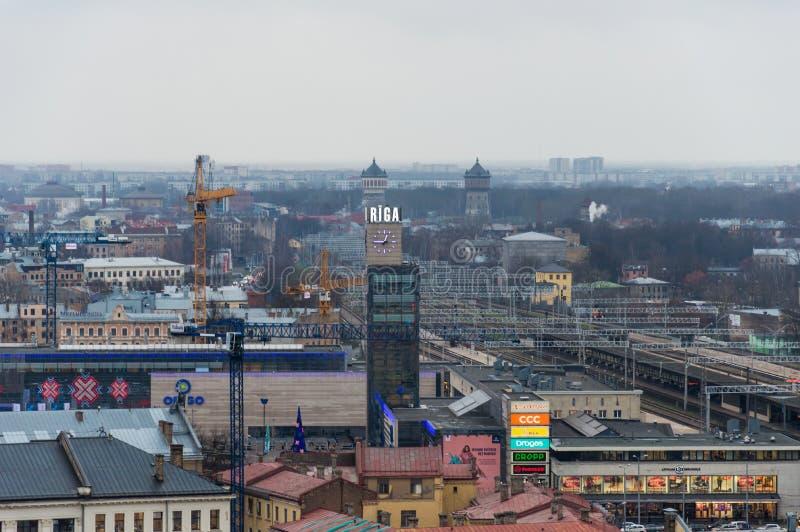 Vista aérea de Riga Letonia imagen de archivo