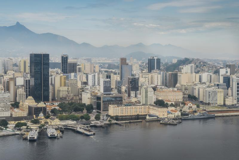 Vista aérea de Rio de Janeiro, el Brasil foto de archivo