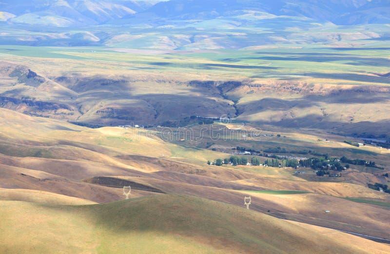 Vista aérea de Rolling Hills imagens de stock