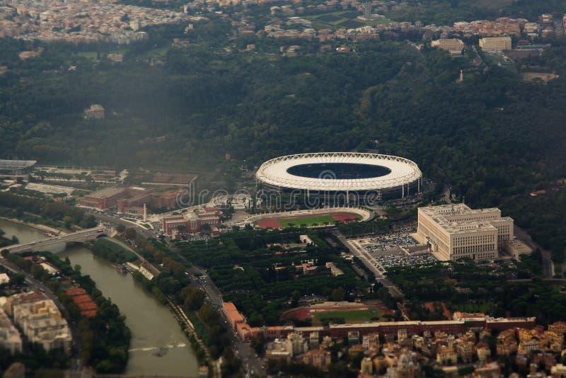 Vista aérea de Roma fotografia de stock royalty free