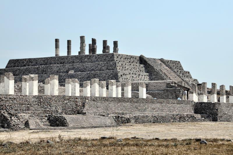 Vista aérea de ruínas de Tula, México imagens de stock royalty free