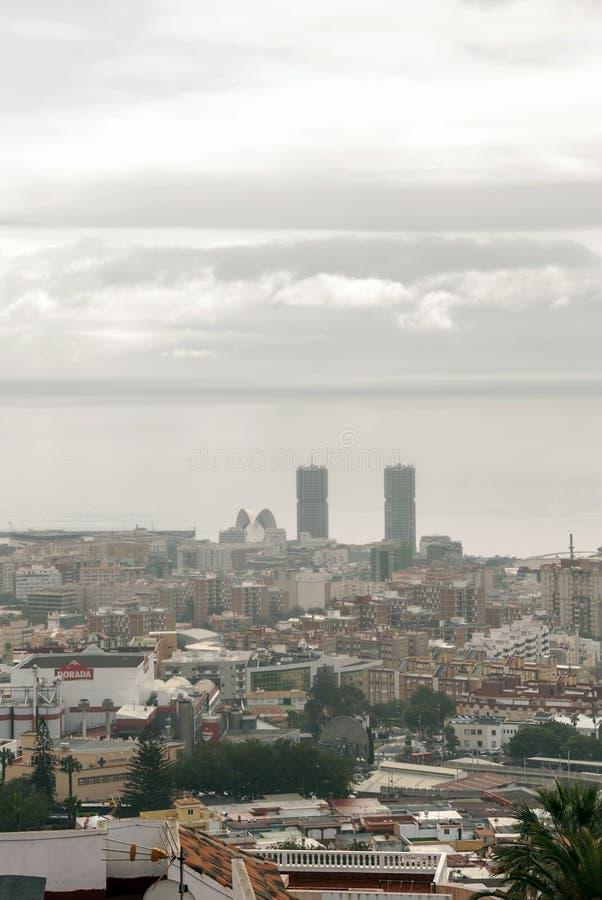 Vista aérea de Santa Cruz de Tenerife foto de stock royalty free