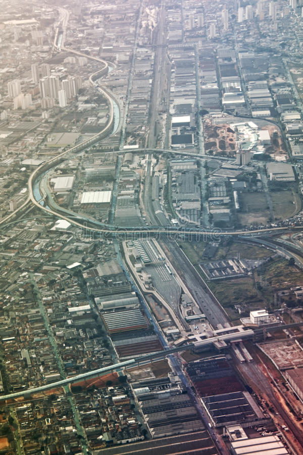 Vista aérea de Sao Paulo fotografia de stock royalty free