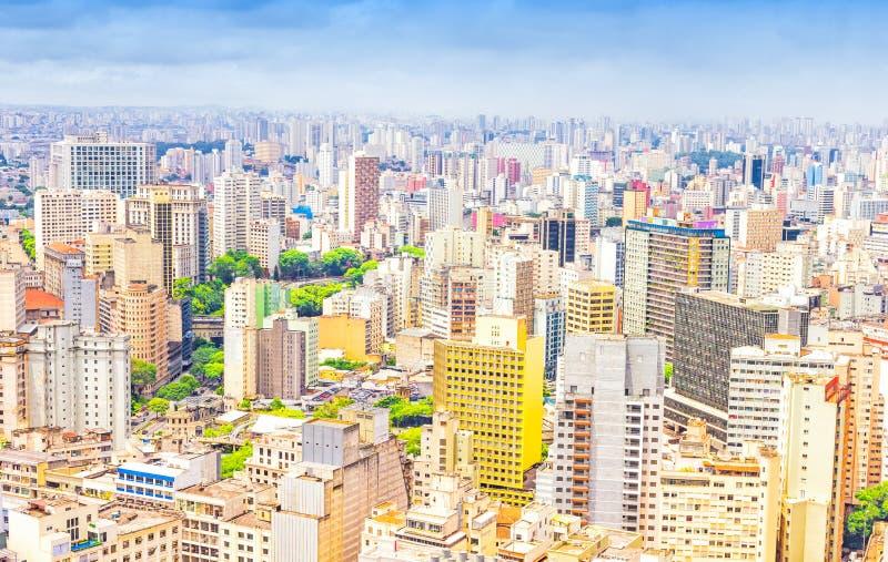 Vista aérea de Sao Paulo imagem de stock royalty free