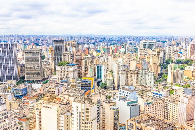 Vista aérea de Sao Paulo imagem de stock