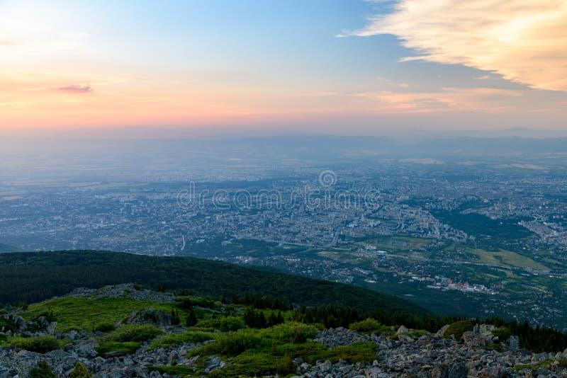 Vista aérea de Sofía fotos de archivo libres de regalías