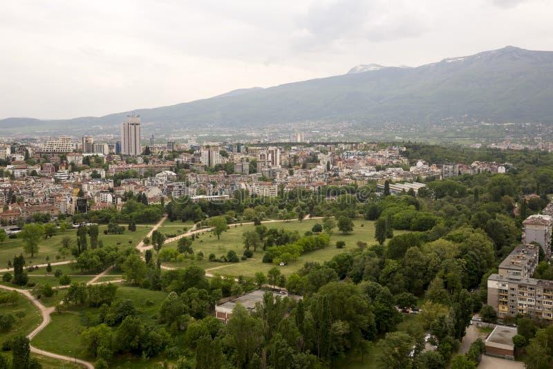Vista aérea de Sofía, Bulgaria imagenes de archivo