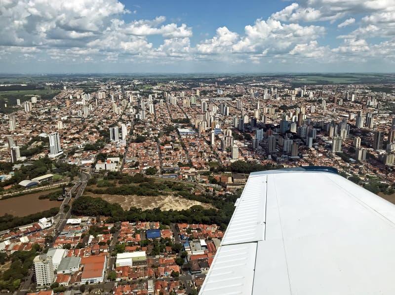 Vista aérea de SP el Brasil de Piracicaba imagen de archivo