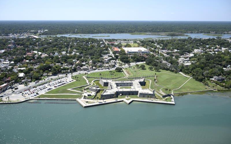 Vista aérea de St Augustine do centro imagem de stock