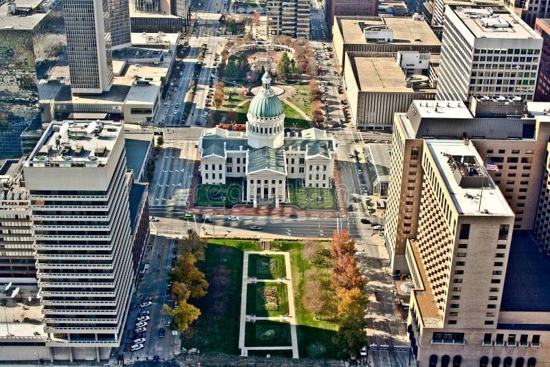 Vista aérea de St. Louis foto de archivo