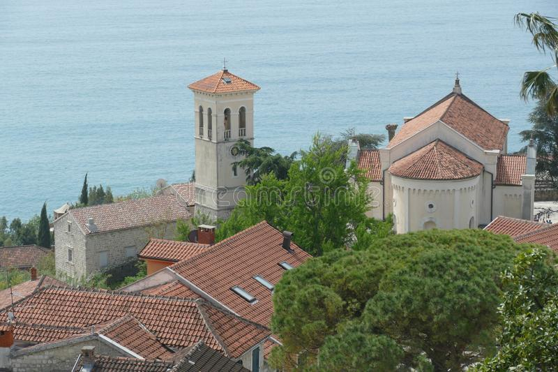 Vista aérea de St Michael Archangel Church fotos de archivo libres de regalías