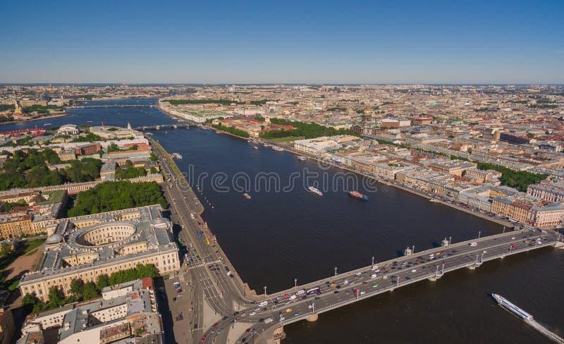 Vista aérea de St Petersburg, centro da cidade foto de stock royalty free