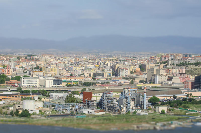 Vista aérea de suburbios fotos de archivo