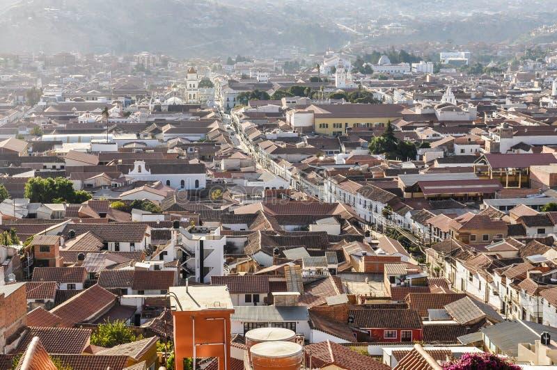 Vista aérea de Sucre, Bolivia fotos de archivo