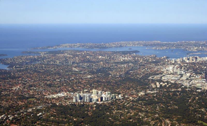 Vista aérea de Sydney Australia imagen de archivo