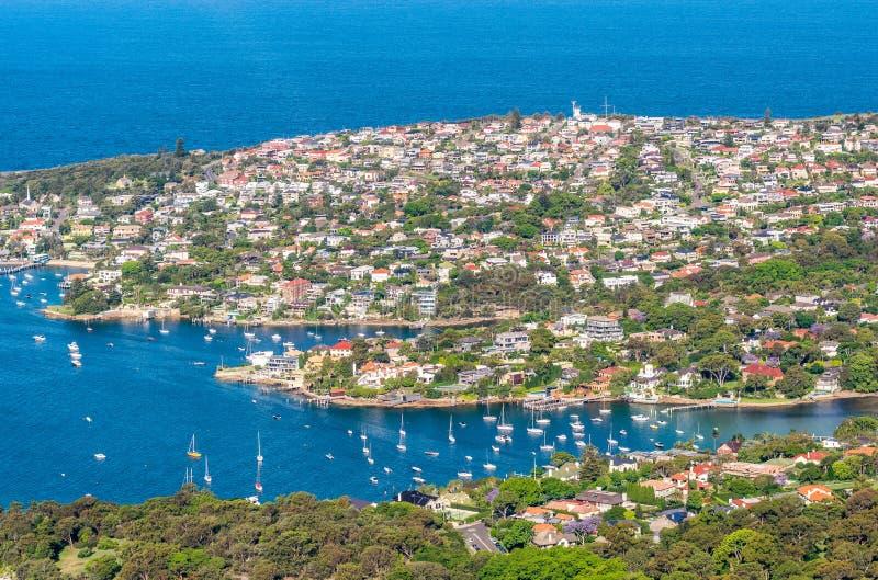 Vista aérea de Sydney Coastline - Nuevo Gales del Sur, Australia fotografía de archivo