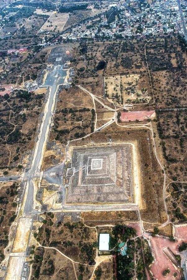 Vista aérea de Teotihuacan imagem de stock