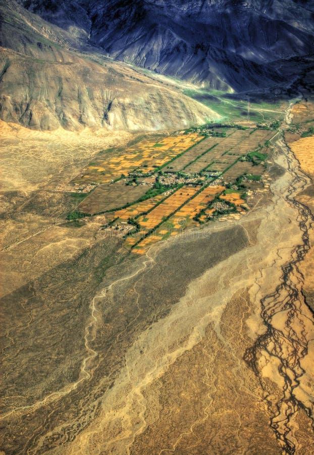 Vista aérea de Tibet imagem de stock