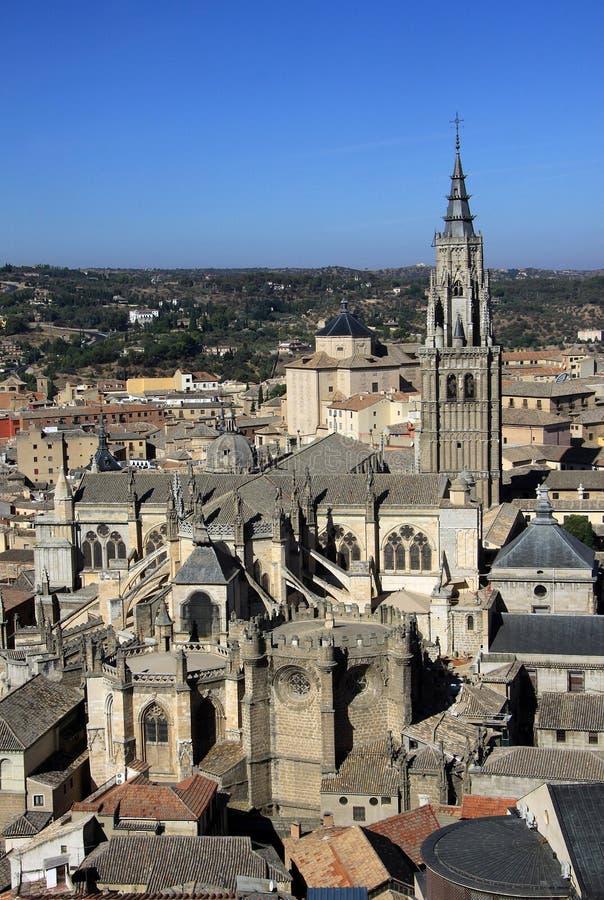 Vista aérea de Toledo, España imágenes de archivo libres de regalías