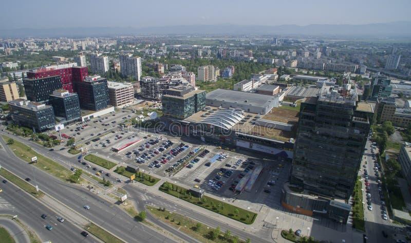 Vista aérea de Tsarigradsko Chaussee, Sofía, Bulgaria imagen de archivo libre de regalías