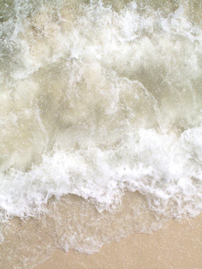 Vista aérea de uma onda do mar imagem de stock royalty free