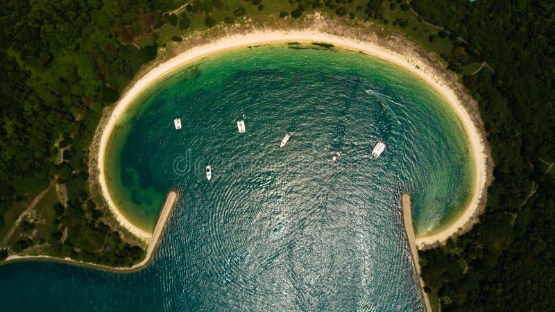 Vista aérea de uma praia fotografia de stock