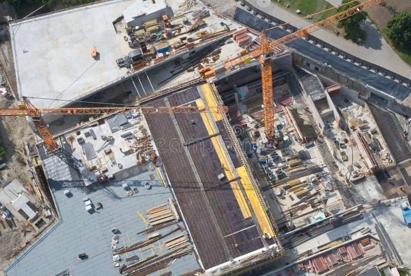 Vista aérea de un emplazamiento de la obra foto de archivo libre de regalías