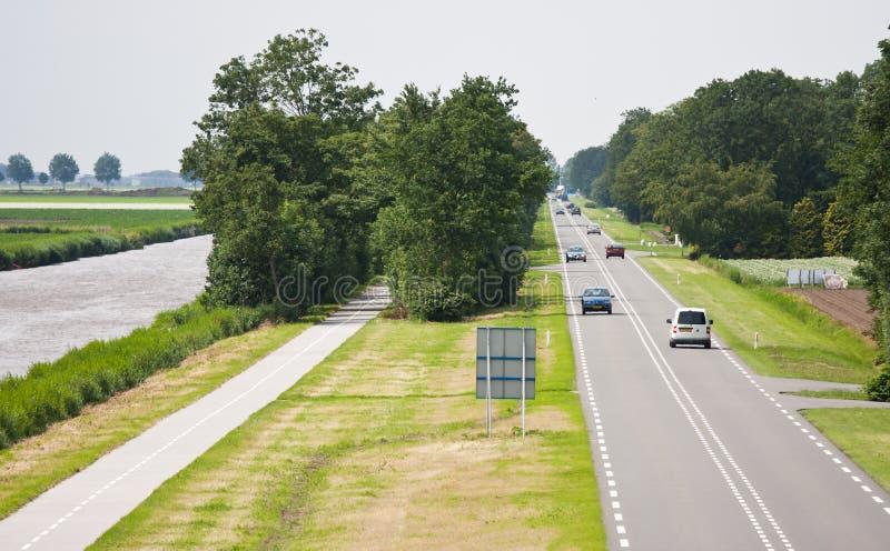 Vista aérea de una carretera nacional recta imagen de archivo libre de regalías