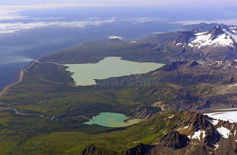 Vista aérea de una costa costa remota fotografía de archivo