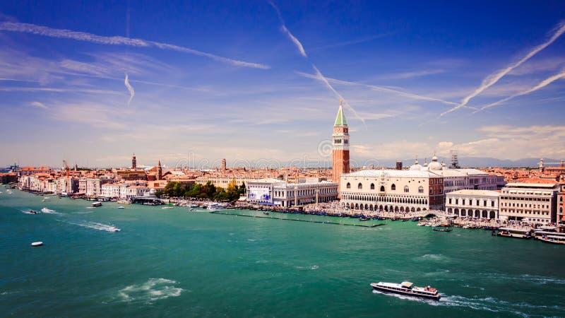 Vista aérea de Venecia, Italia foto de archivo libre de regalías