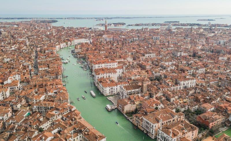 Vista aérea de Veneza fotos de stock royalty free