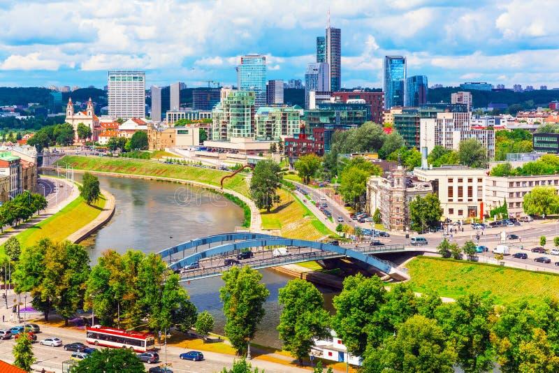 Vista aérea de Vilnius, Lithuania fotos de stock royalty free