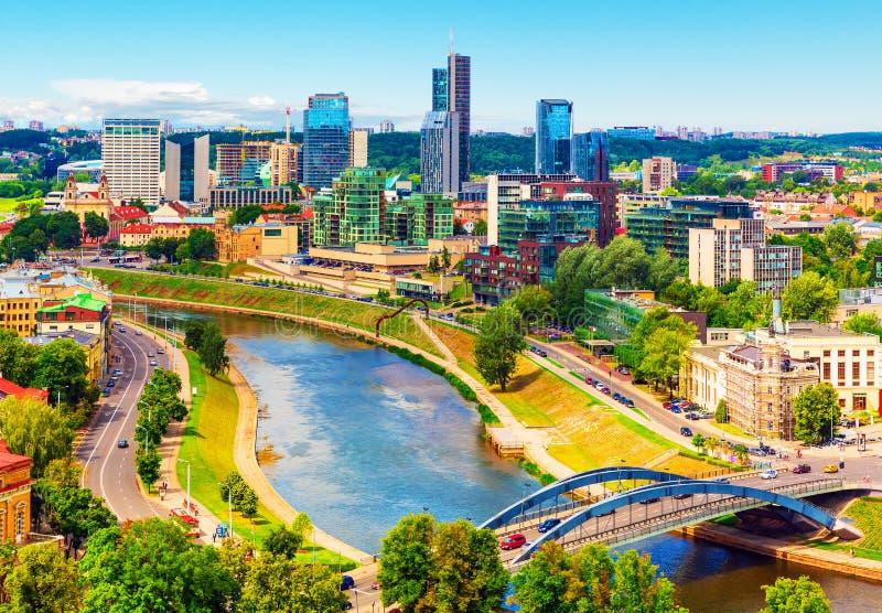 Vista aérea de Vilnius, Lithuania fotografia de stock royalty free