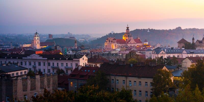 Vista aérea de Vilnius, Lituania imagen de archivo