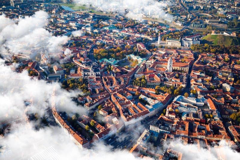 Vista aérea de Vilnius, Lituania foto de archivo libre de regalías