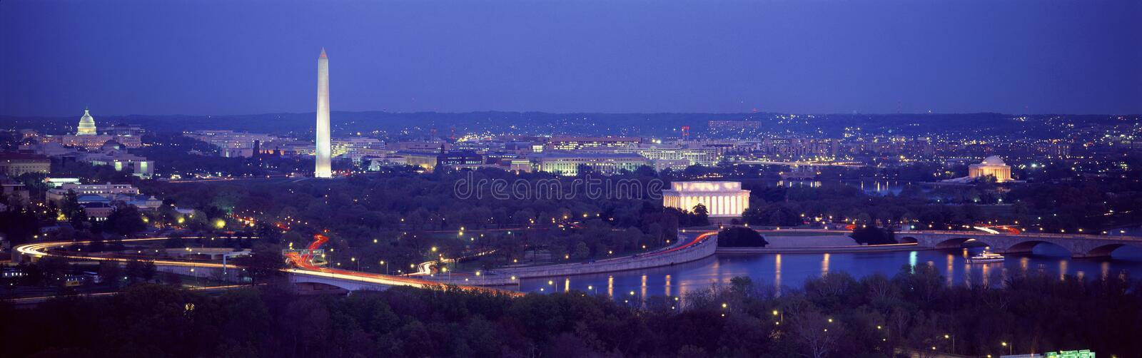 Vista aérea de Washington foto de stock