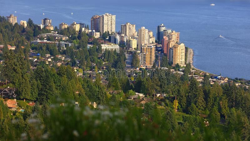 Vista aérea de West Vancouver imagem de stock
