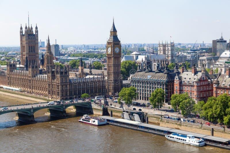 Vista aérea de Westminster, Londres fotos de stock