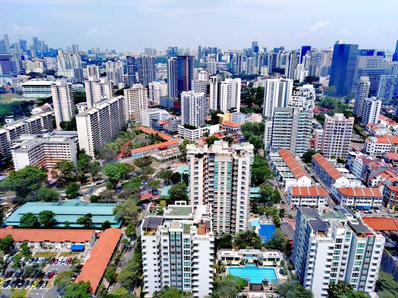 Vista aérea de Whampoa - Novena, Singapura fotos de stock