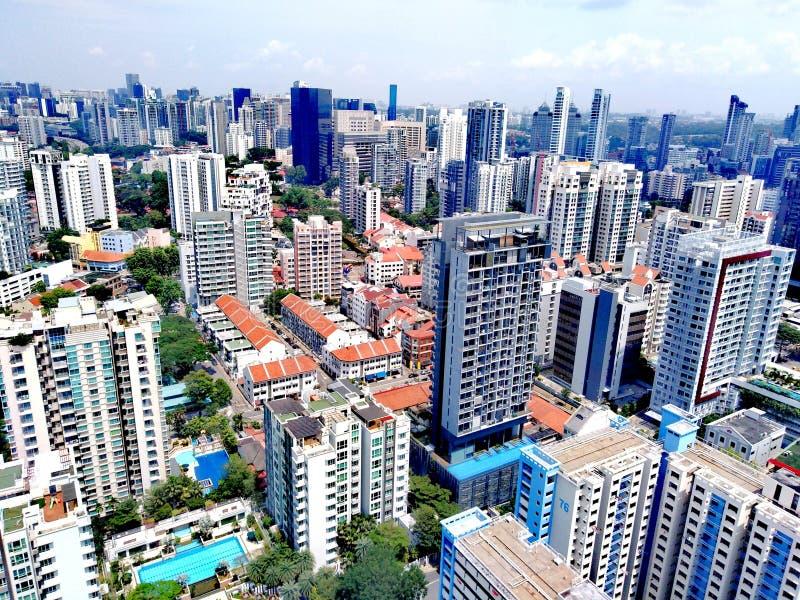 Vista aérea de Whampoa - Novena, Singapura fotografia de stock royalty free