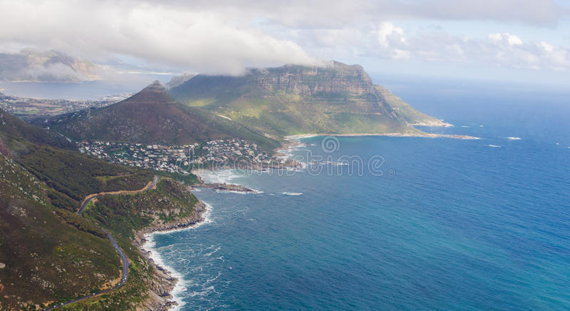 """Vista aérea del †""""Suráfrica de Cape Town imagenes de archivo"""