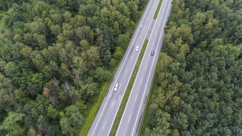 Vista aérea del camino ocupado en Sosnowiec Polonia imagen de archivo
