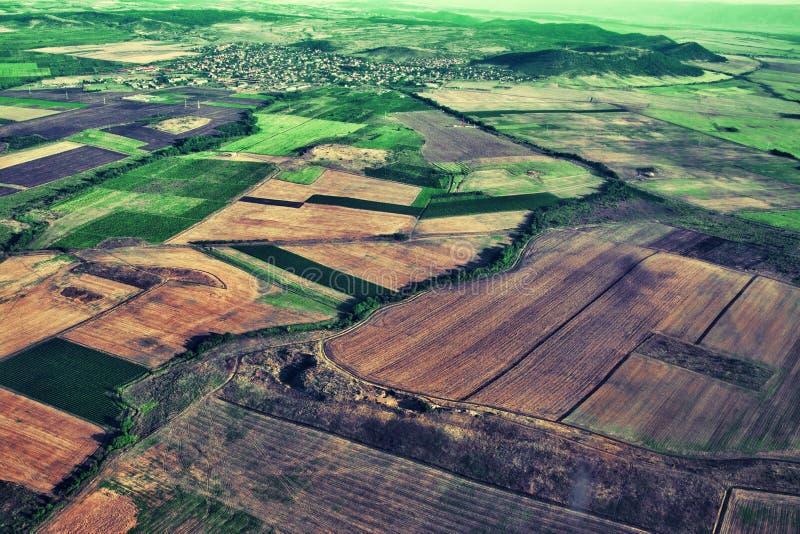 Vista aérea del campo verde imagen de archivo libre de regalías