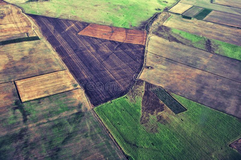 Vista aérea del campo verde foto de archivo
